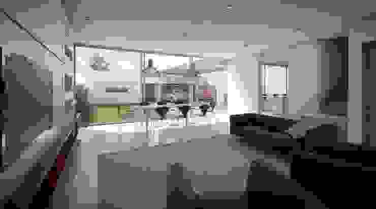 casa A Livings modernos: Ideas, imágenes y decoración de ARQUITECTO MAURICIO PIZOLATTO Moderno