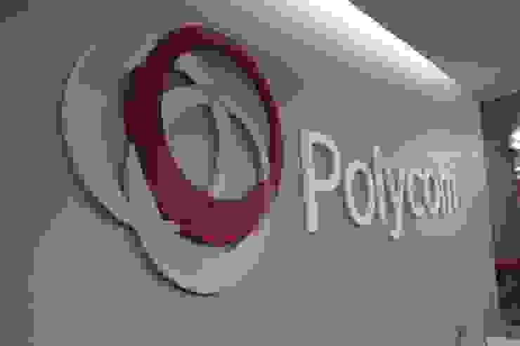 Ambientación oficinas Polycom México de Diseño Distrito Federal Moderno