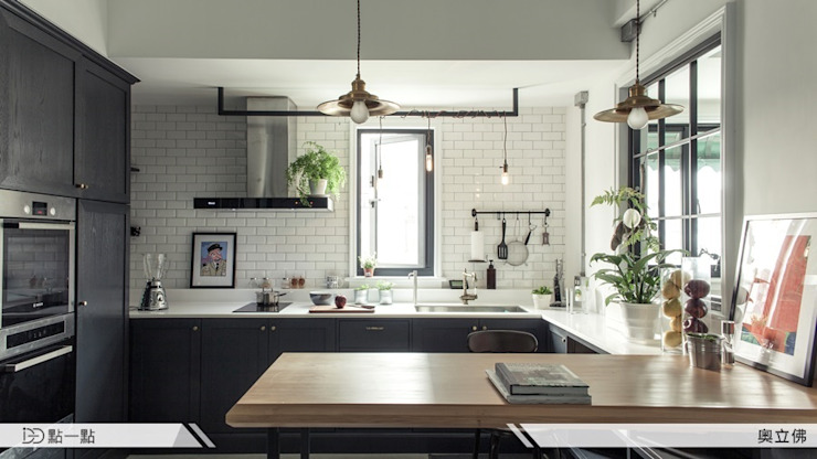 奧立佛設計 Industrial style kitchen by homify Industrial