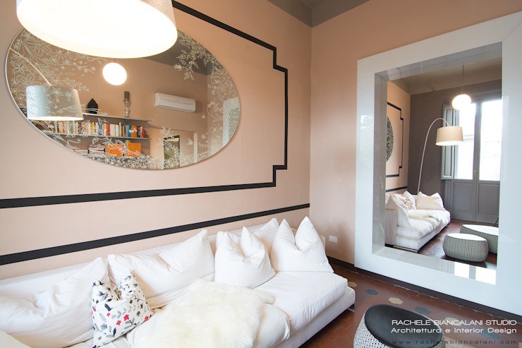 Livings de estilo ecléctico de Rachele Biancalani Studio Ecléctico