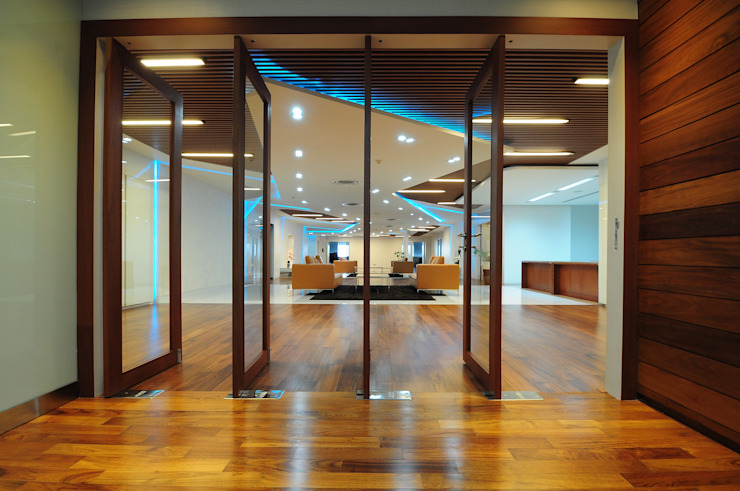 BAM's Exclusive Pre Function ห้องโถงทางเดินและบันไดสมัยใหม่ โดย JustSpace Design Studio โมเดิร์น ไม้ Wood effect