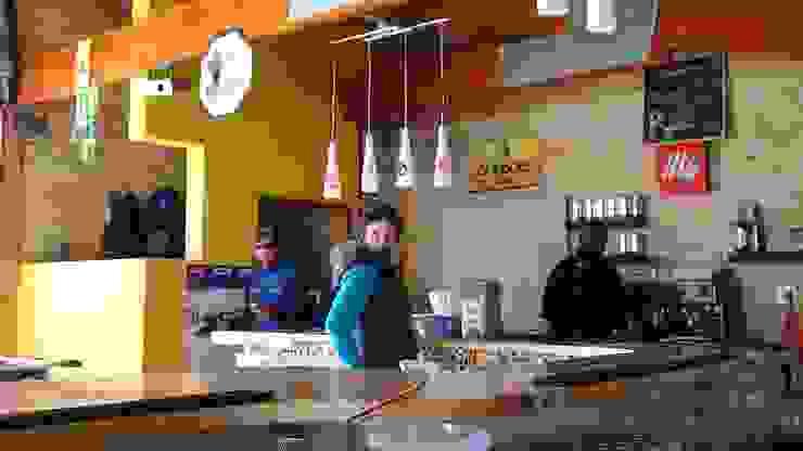 AOJ | Architecture & Interiors Modern bars & clubs Yellow