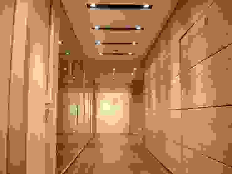 Acesso às salas de reuniões por Área77 - arquitectura, engenharia e design, lda Moderno