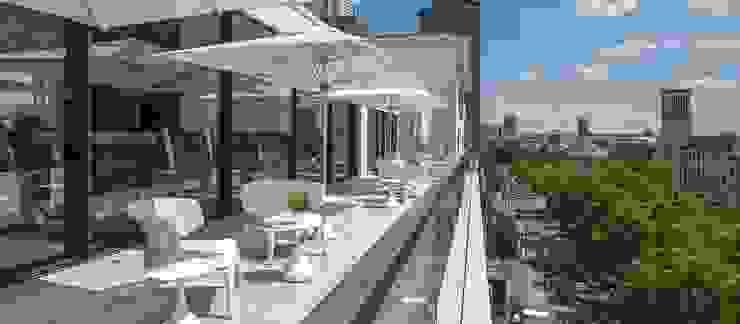 Burckhardt Metall Glas GmbH Balcone, Veranda & Terrazza in stile moderno