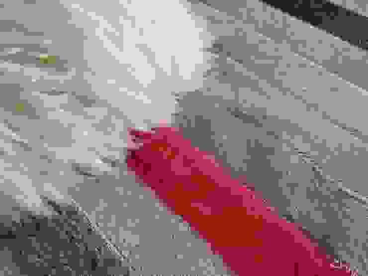 Alfombra patchwork de cuero vacuno diseño en tiras de Cusco Custom Cuero Moderno Cuero Gris