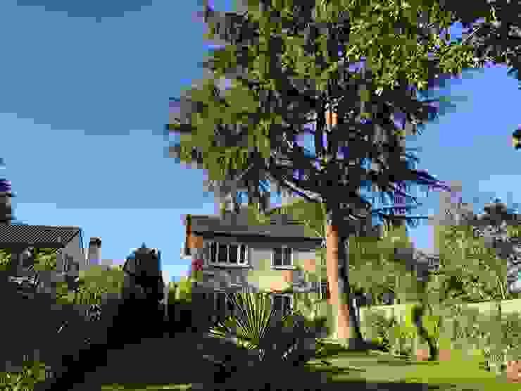 façade coté jardin, avant: Maisons de style  par Eric Rechsteiner, Minimaliste