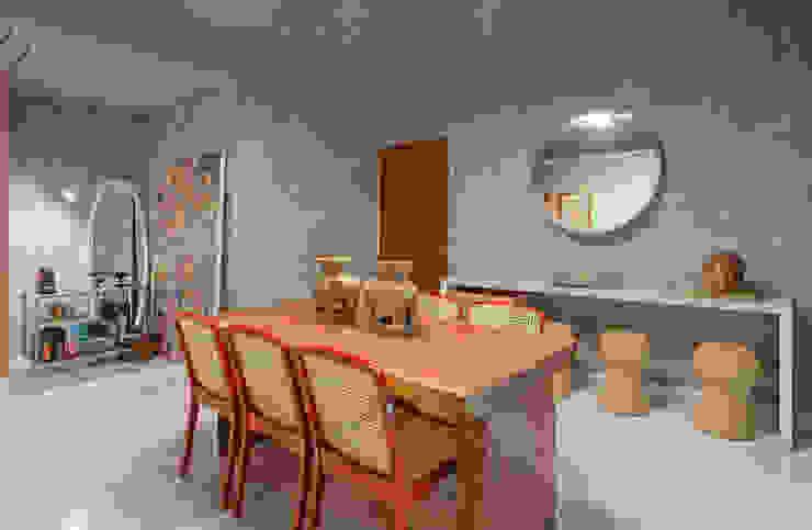 Sala de jantar Salas de jantar industriais por Jacqueline Ortega Design de Ambientes Industrial