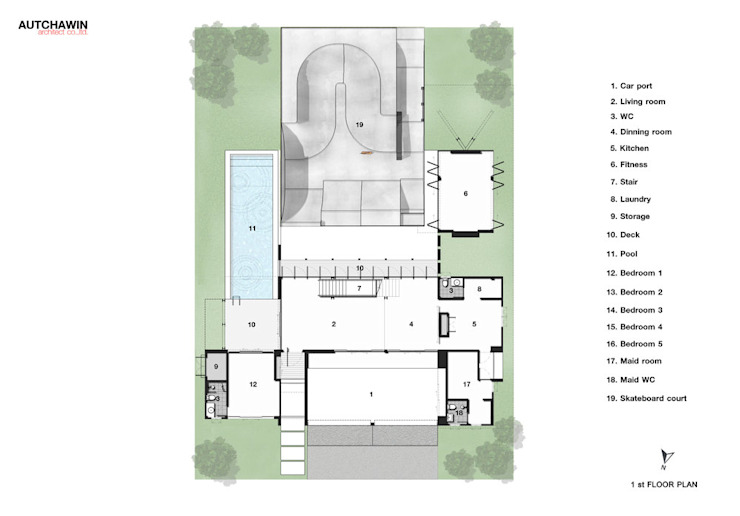 1st floor Autchawin Architect Co., Ltd.