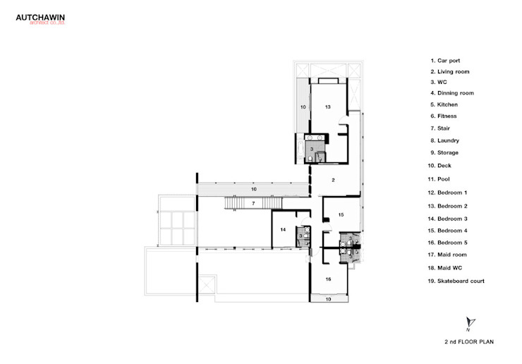 2nd floor Autchawin Architect Co., Ltd.