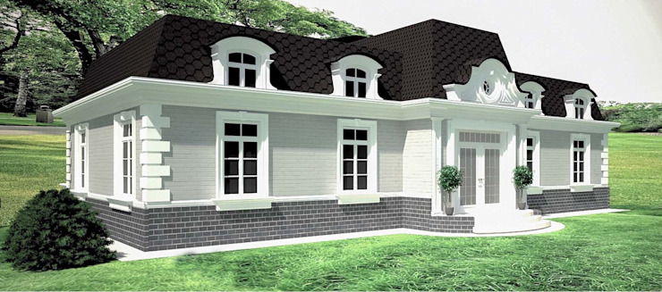 APRIL DESIGN Classic style houses Bricks Grey
