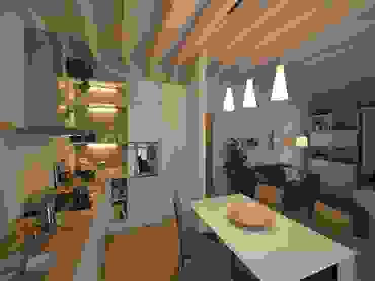 Comedores de estilo  por Marlegno, Moderno Madera Acabado en madera