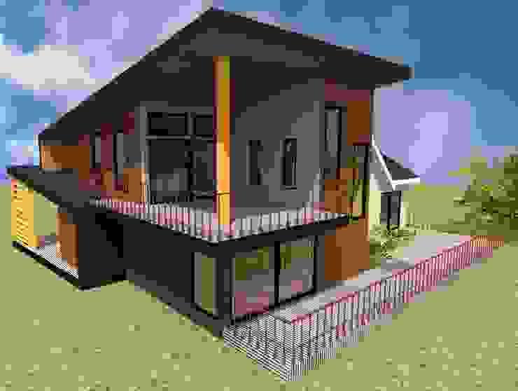 VIVIENDA HUMEDAL DE PUTEMUN Casas estilo moderno: ideas, arquitectura e imágenes de GerSS Arquitectos Moderno