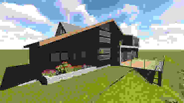 VIVIENDA UNIFAMILIAR DE NIEBLA - VALDIVIA Casas estilo moderno: ideas, arquitectura e imágenes de GerSS Arquitectos Moderno