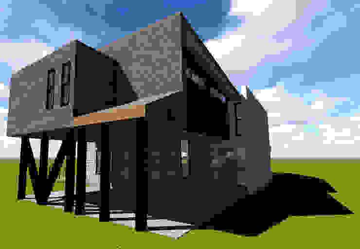 VIVIENDA UNIFAMILIAR DE NIEBLA – VALDIVIA Casas estilo moderno: ideas, arquitectura e imágenes de GerSS Arquitectos Moderno