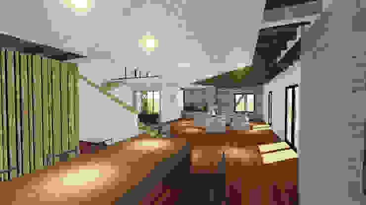 VIVIENDA UNIFAMILIAR DE NIEBLA – VALDIVIA Comedores de estilo moderno de GerSS Arquitectos Moderno