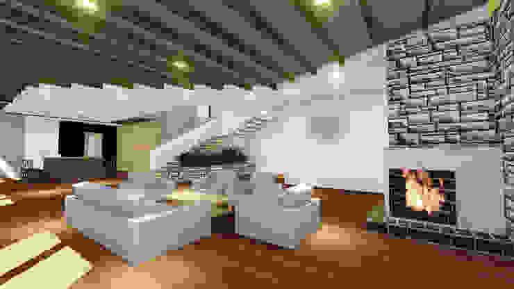 VIVIENDA UNIFAMILIAR DE NIEBLA – VALDIVIA Livings de estilo moderno de GerSS Arquitectos Moderno