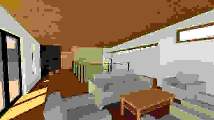 VIVIENDA UNIFAMILIAR DE NIEBLA – VALDIVIA Oficinas y bibliotecas de estilo moderno de GerSS Arquitectos Moderno