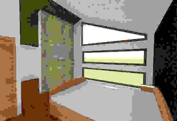 VIVIENDA UNIFAMILIAR DE NIEBLA – VALDIVIA Dormitorios de estilo moderno de GerSS Arquitectos Moderno