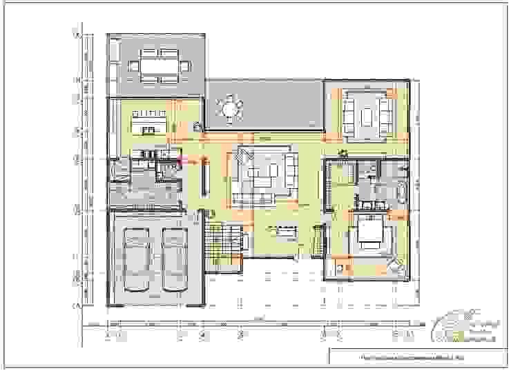 Casas de estilo  por Компания архитекторов Латышевых 'Мечты сбываются', Mediterráneo
