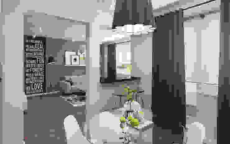 Small studio for young man in Krasnogorsk city Ksenia Konovalova Design Modern Kitchen