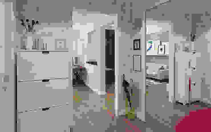 Small studio for young man in Krasnogorsk city Ksenia Konovalova Design Modern Living Room White