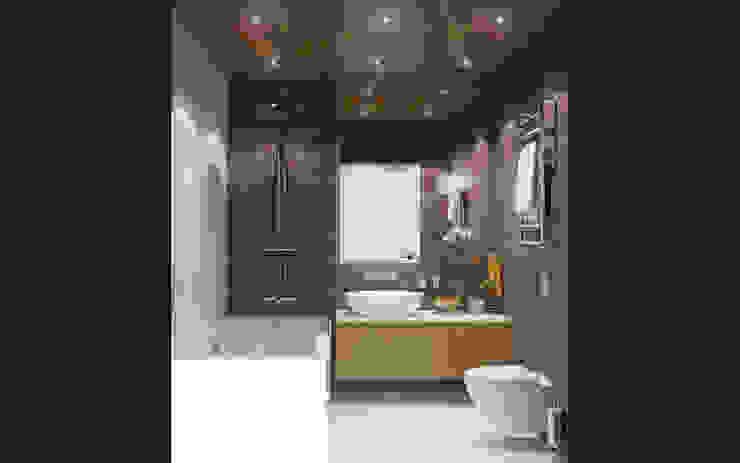 حمام تنفيذ Ksenia Konovalova Design , حداثي خشب Wood effect