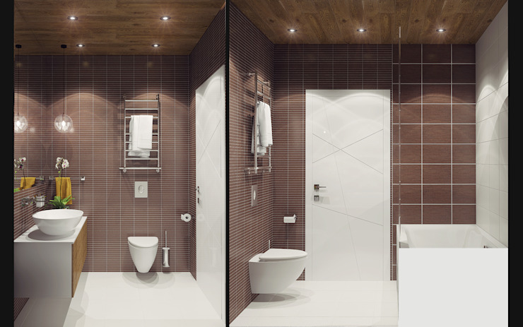Modern bathroom by Ksenia Konovalova Design Modern Wood Wood effect