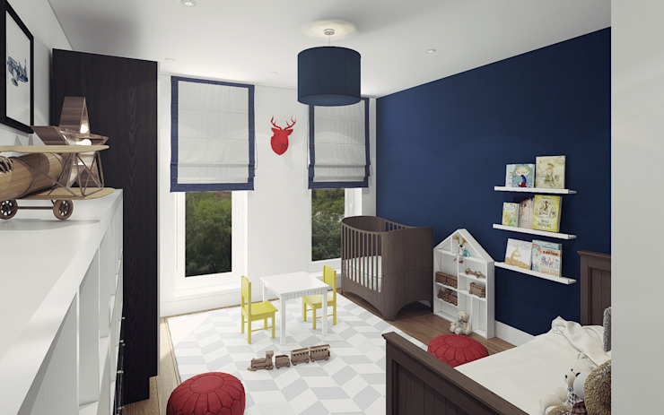 Apartment in Otrada estate Ksenia Konovalova Design Modern Kid's Room Blue