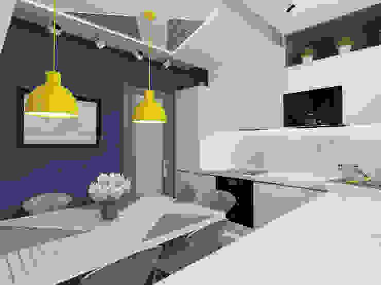 Cocinas de estilo moderno de Ksenia Konovalova Design Moderno Madera Acabado en madera