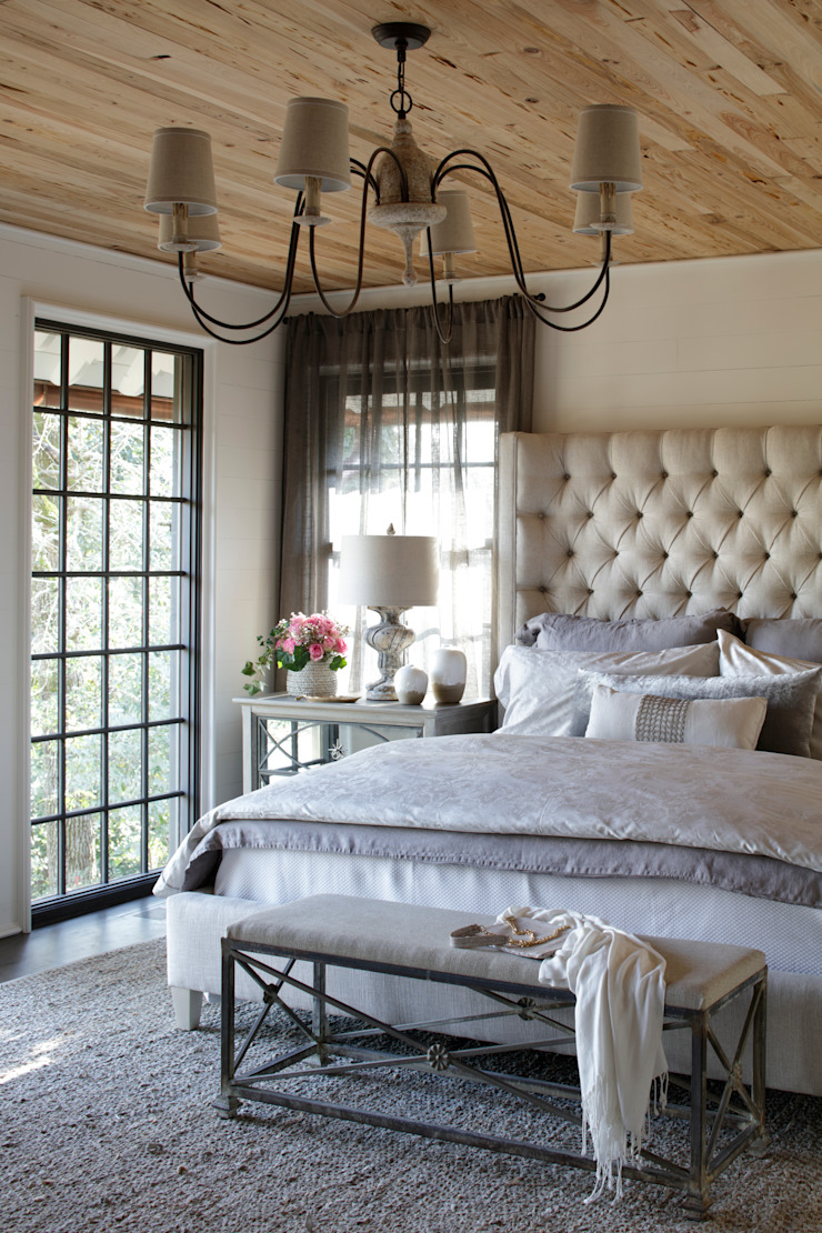 Ridgeview Showhouse Eclectic style bedroom by Christopher Architecture & Interiors Eclectic