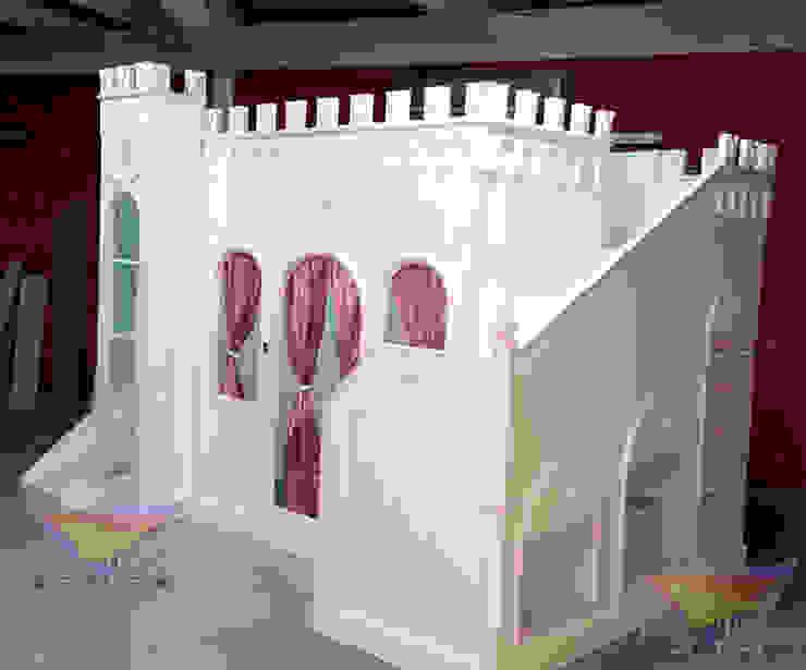 Precioso castillo Opulento de camas y literas infantiles kids world Clásico Derivados de madera Transparente
