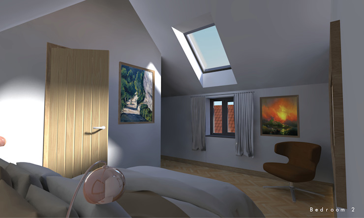 The first floor guest bedroom par Samuel Kendall Associates Limited