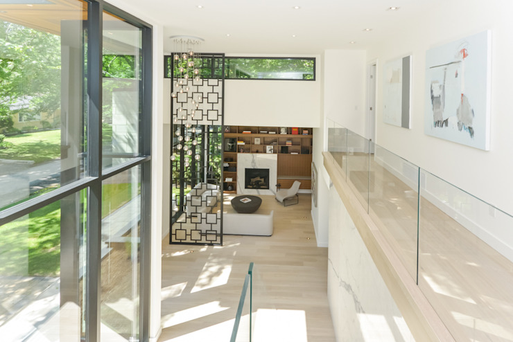 Rockcliffe Park Modern Corridor, Hallway and Staircase by Flynn Architect Modern