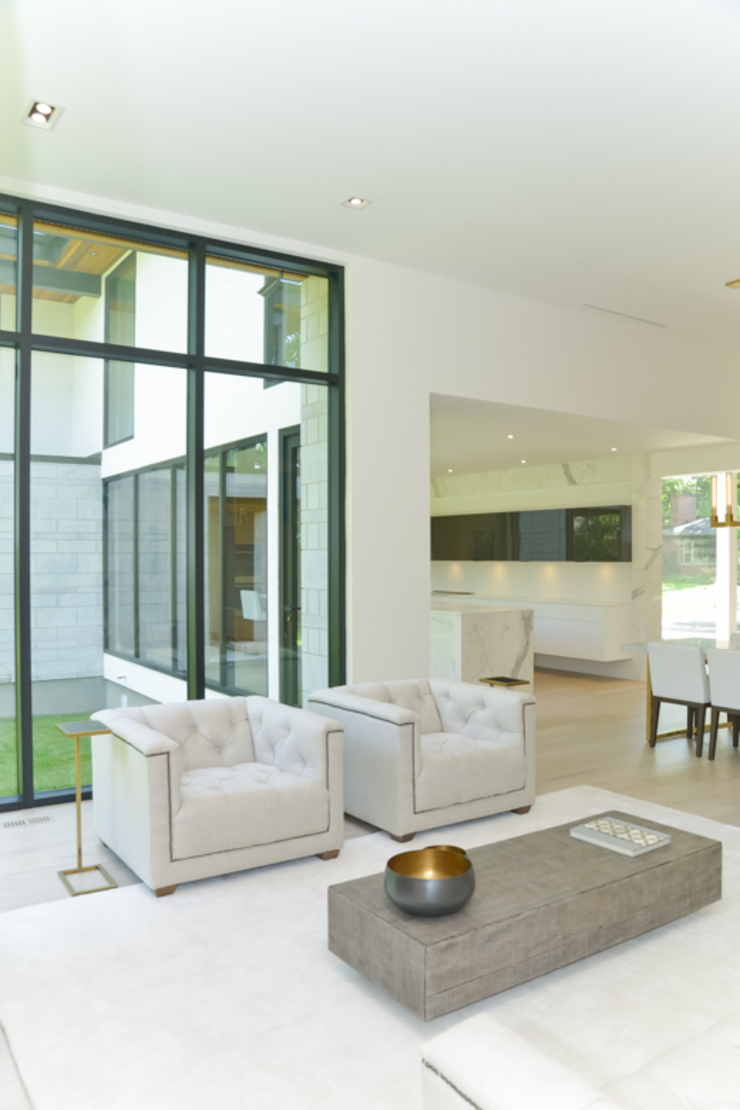 Rockcliffe Park Modern living room by Flynn Architect Modern