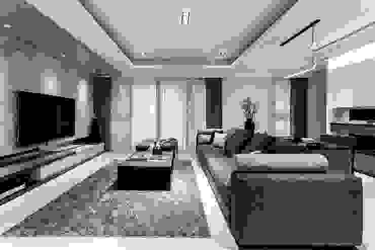 Moderne Wohnzimmer von 双設計建築室內總研所 Modern