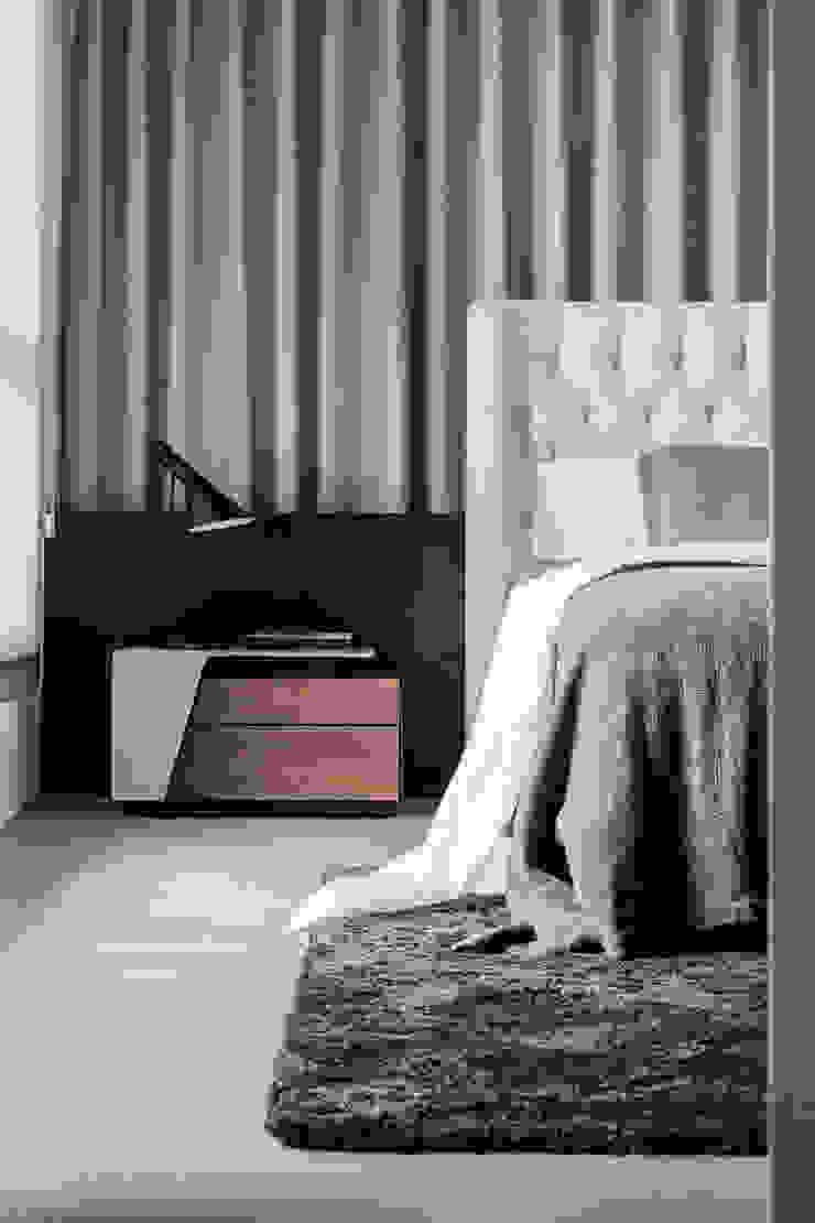 Moderne Schlafzimmer von 双設計建築室內總研所 Modern