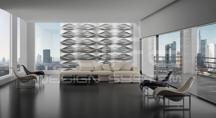 Dekorative Wandgestaltung Moderne Wohnzimmer von Loft Design System Deutschland - Wandpaneele aus Bayern Modern