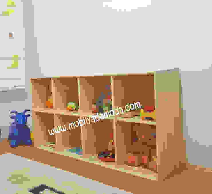 Montessori Bebek Çocuk Odası, Montessori Açık Raf Sistemi Modern Çocuk Odası MOBİLYADA MODA Modern Ahşap Ahşap rengi