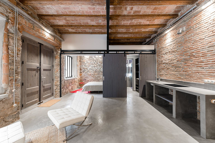 Couloir et hall d'entrée de style  par N.A. Construcción, Rustique