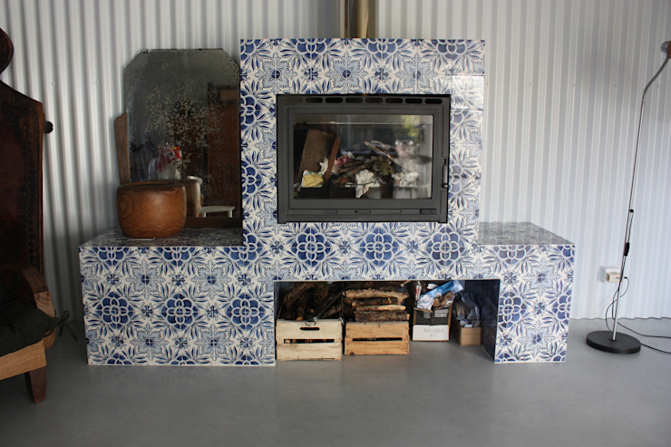 Sant'Anna Salas modernas Azulejos Azul