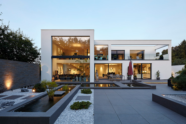 Huizen door Lioba Schneider , Modern