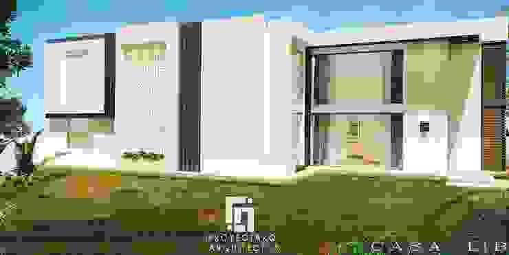 CASA LB PROYECTARQ | ARQUITECTOS Casas modernas Concreto Blanco