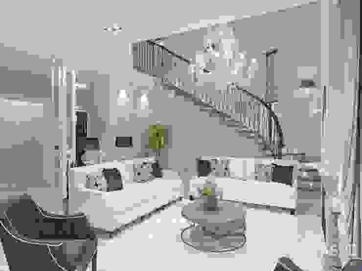غرفة المعيشة تنفيذ Студия авторского дизайна ASHE Home,