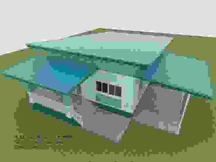 แบบบ้านพักอาศัย ชั้นเดียว 2 ห้องนอน 1 ห้องน้ำ (A1-084) โดย aof_101