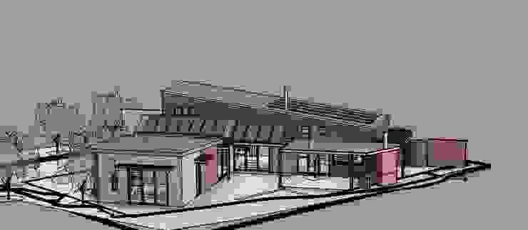 3D View North Modern houses by Architects Unbound (Pty) Ltd. Modern Bricks