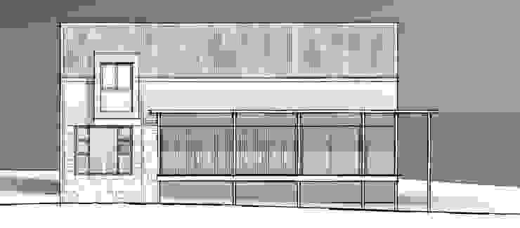Seaside Facade Minimalist house by Architects Unbound (Pty) Ltd. Minimalist