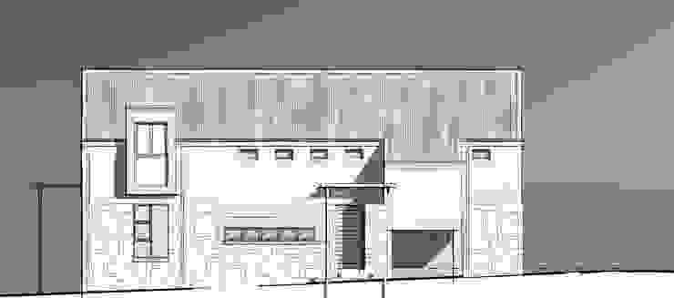 West Facade Minimalist house by Architects Unbound (Pty) Ltd. Minimalist Stone