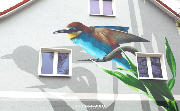 de Wandgestaltung Graffiti Airbrush von Appolloart Asiático