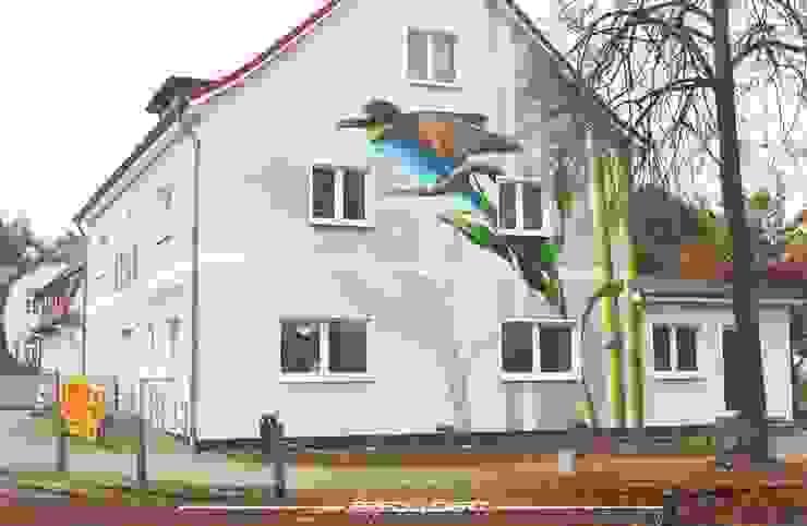 Giebel Asiatische Krankenhäuser von Wandgestaltung Graffiti Airbrush von Appolloart Asiatisch
