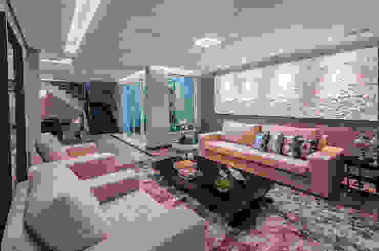 Salas / recibidores de estilo  por Das Haus Interiores - by Sueli Leite & Eliana Freitas
